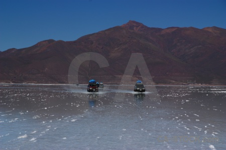 4x4 andes sky vehicle salt flat.