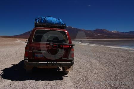 4x4 landscape bolivia lake sky.