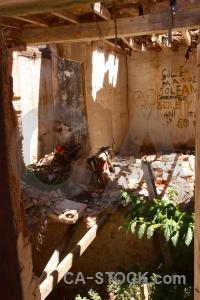 Abandoned beam europe denia ruin.