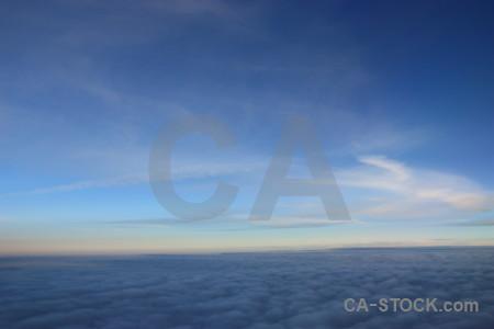 Above blue sky cloud.