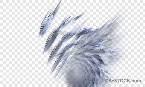 Abstract transparent fractal blue.