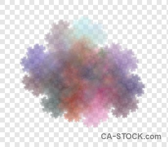 Abstract transparent purple fractal.