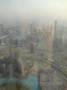 Aerial building western asia cityscape dubai.