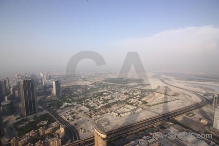 Aerial cityscape dubai western asia skyscraper.