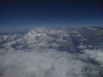 Aerial cloud snow sky everest.