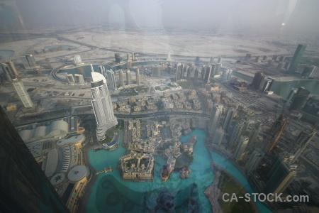 Aerial uae cityscape road western asia.