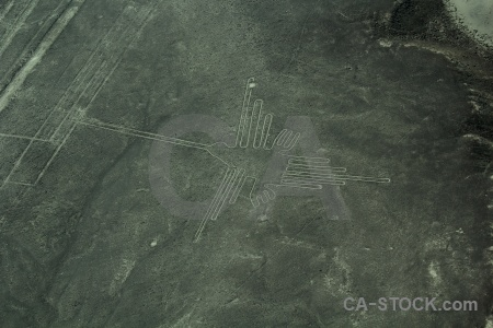 Aerial unesco flying south america nazca.