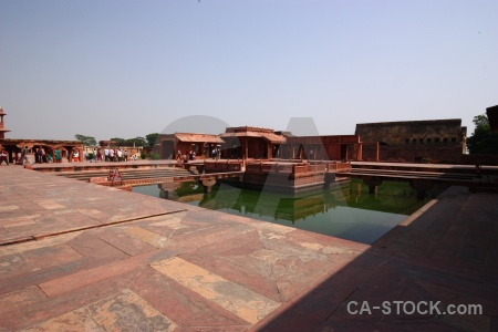 Agra anup talao reflection pool sky.