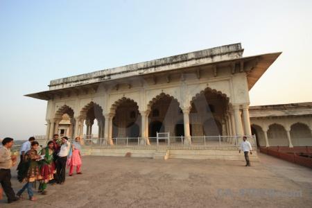 Agra unesco archway jahangir building.