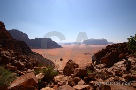 Ain shalaaleh landscape rock bedouin jordan.
