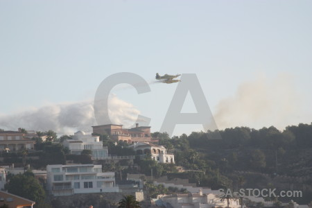 Airplane europe spain firefighting javea.