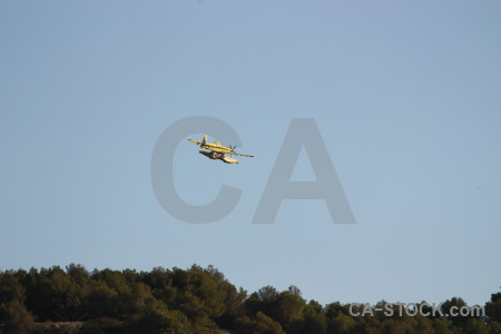 Airplane firefighting javea europe montgo fire.