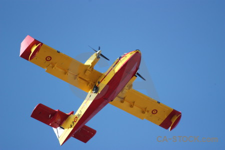 Airplane firefighting montgo fire javea europe.