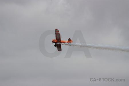 Airplane gray smoke.