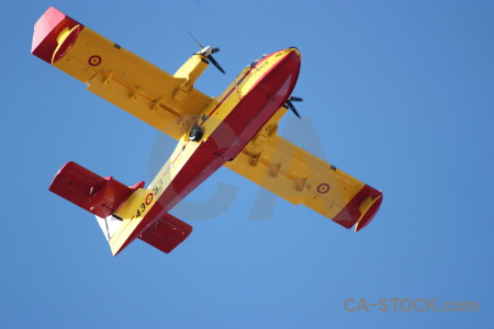 Airplane montgo fire europe javea spain.