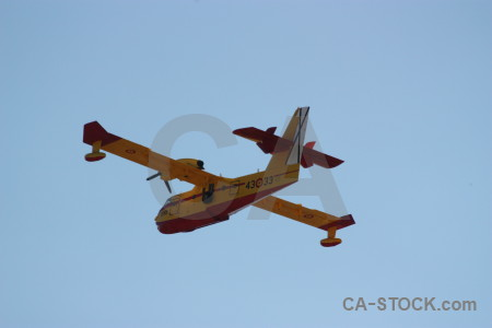 Airplane spain europe javea firefighting.