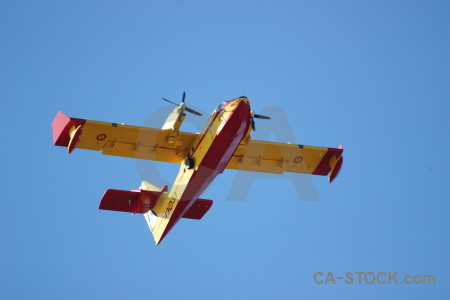 Airplane spain firefighting javea europe.