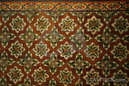 Alhambra building fortress pattern brown.