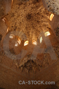 Alhambra la alhambra de granada building interior orange.