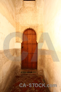 Alhambra orange building door fortress.