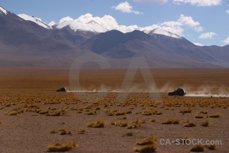 Altitude andes grass siloli desert mountain.