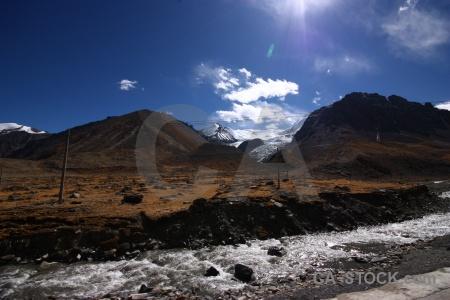 Altitude asia himalayan river plateau.