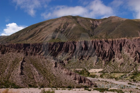 Altitude cliff argentina sky river bed.