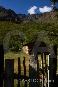 Altitude fence peru south america mountain.