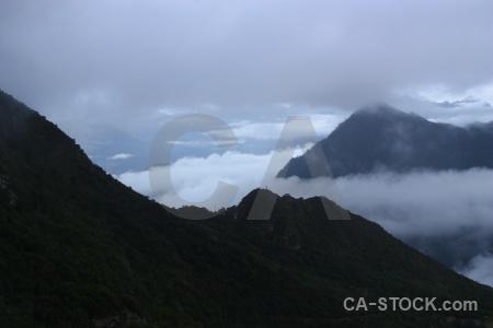 Altitude fog andes sky inca.