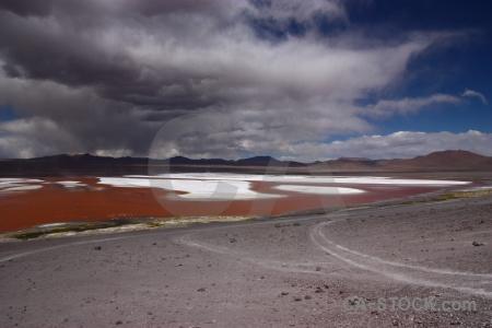 Altitude laguna colorada sky south america salt lake.