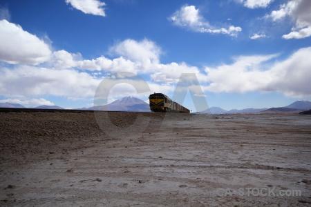 Altitude landscape salar de chiguana south america track.