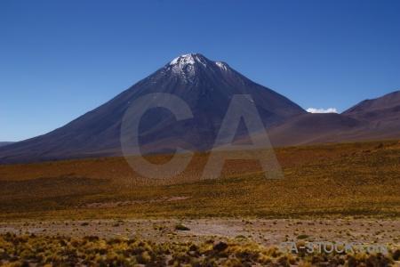 Altitude licancabur south america desert stratovolcano.