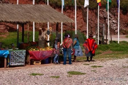 Altitude person cuzco bush grass.