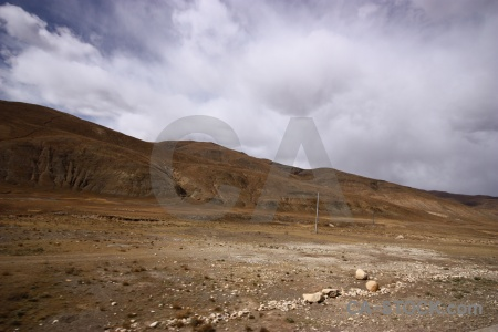 Altitude plateau arid buddhism friendship highway.
