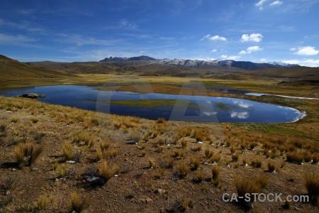 Altitude puno laguna lagunillas andes peru.