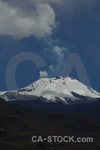 Altitude sabancaya cloud volcano snowcap.
