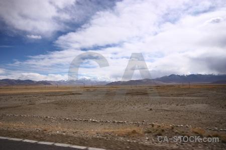 Altitude sky cloud desert tibet.