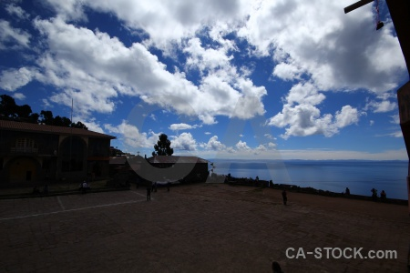 Altitude sky lake titicaca cobble cloud.