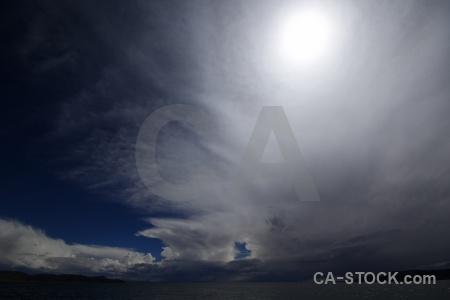 Altitude south america cloud taquile island lake titicaca.