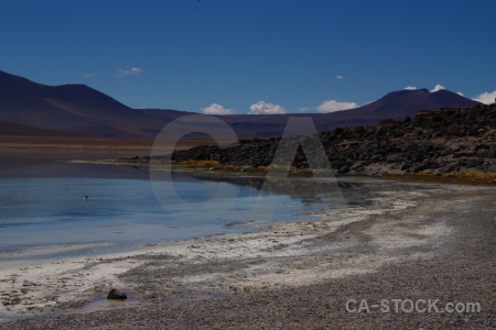 Altitude south america laguna verde water sky.