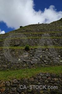 Altitude stone inca trail andes ruin.