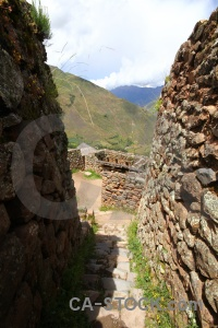 Altitude valley grass urubamba pisac.