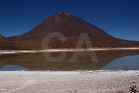 Altitude volcano licancabur lake mountain.