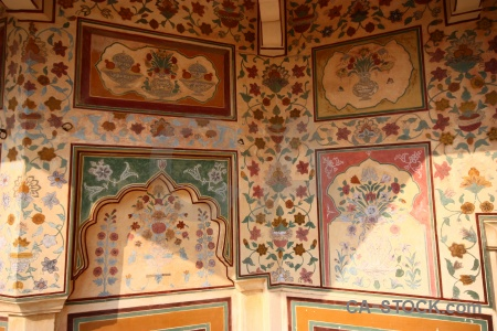 Amer fort tile south asia india amber.