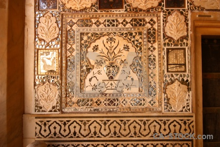 Amer palace fort south asia jaipur india.