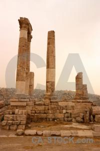 Amman pillar stone archaeological jordan.