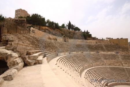 Amman theatre stone cloud roman.