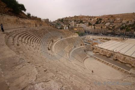 Amphitheatre amman jordan ruin ancient.