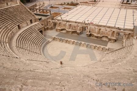 Amphitheatre western asia historic ruin block.
