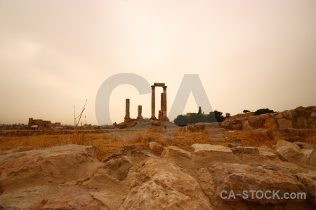 Ancient archaeological rock western asia amman.